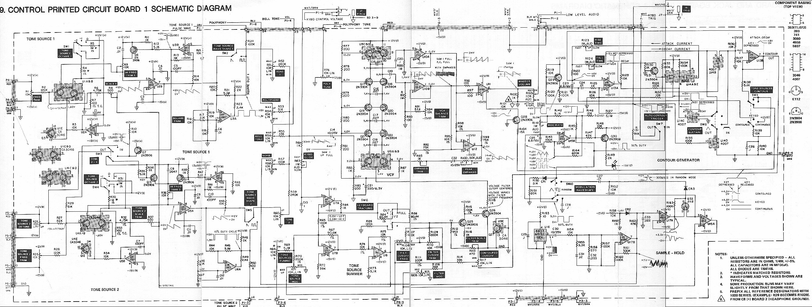 Radio Shack Concertmate MG-1 Schematics: